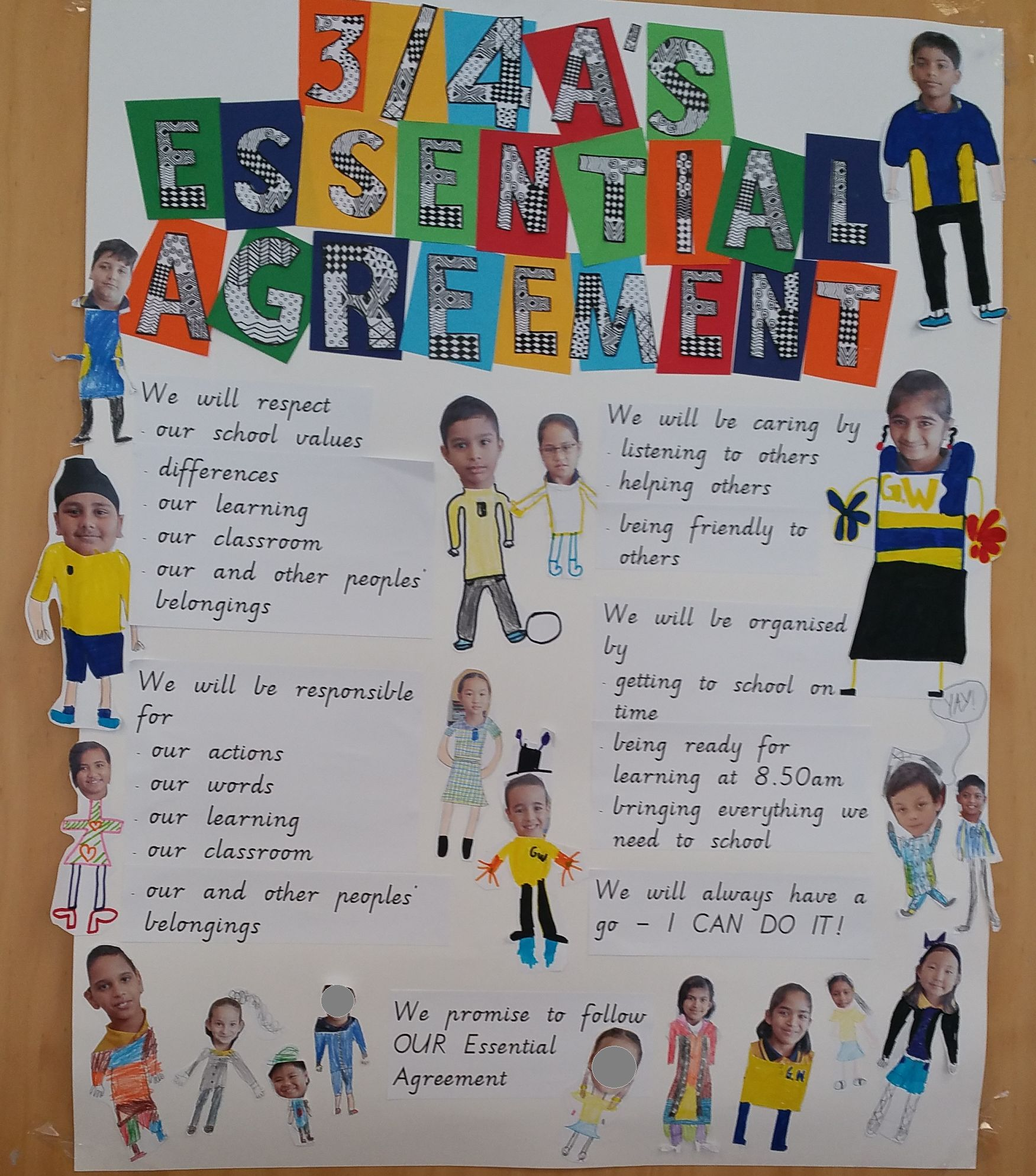 Grade 3/4A's Essential Agreement